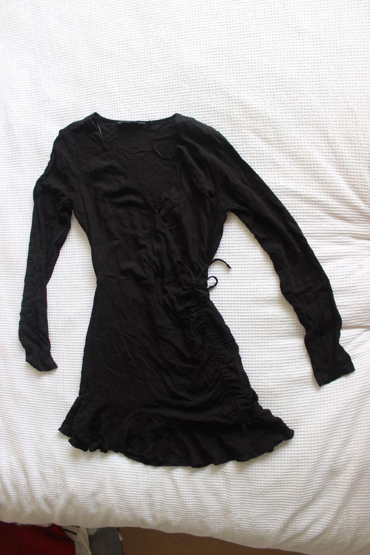 Black glassons ruched dress