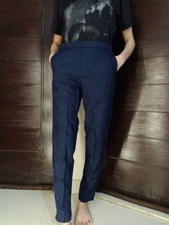 #salefeb Blue Pants / celana bahan / celana panjang