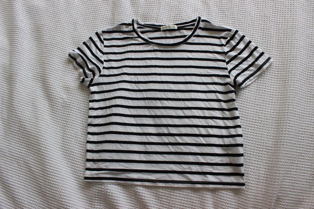 Brand new Cotton on striped crop top