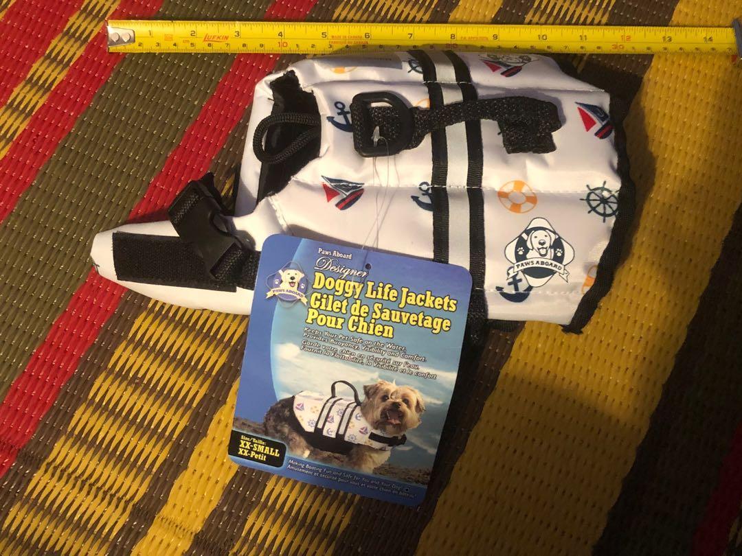Brand new Paws Aboard doggy life jacket size XXS