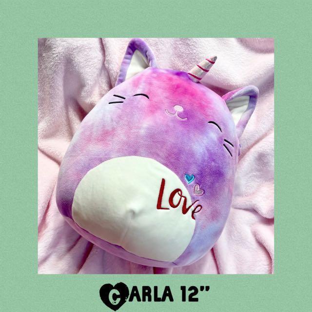 """Carla Squishmallows Caticorn 12"""" Plush 2021 Valentine's Day"""