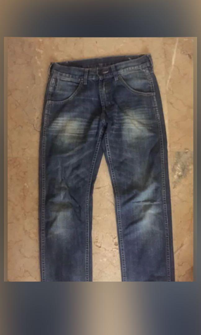 celana jeans wrangler original not lee levis nudie