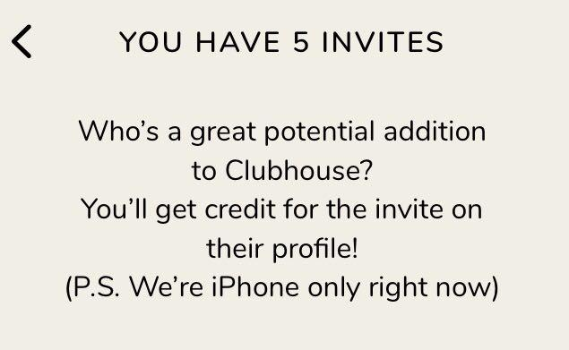 ✨Clubhouse 邀請碼5個✨