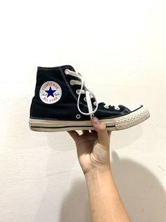 Converse all star 高筒帆布鞋(黑)(24.5cm)