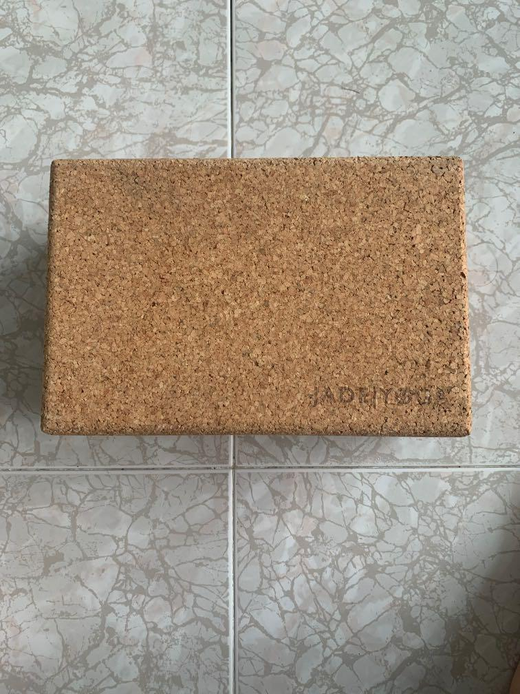 Cork Jade Yoga Block