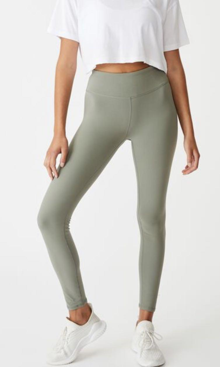 Cotton On Active 7/8 Core Tights - Green