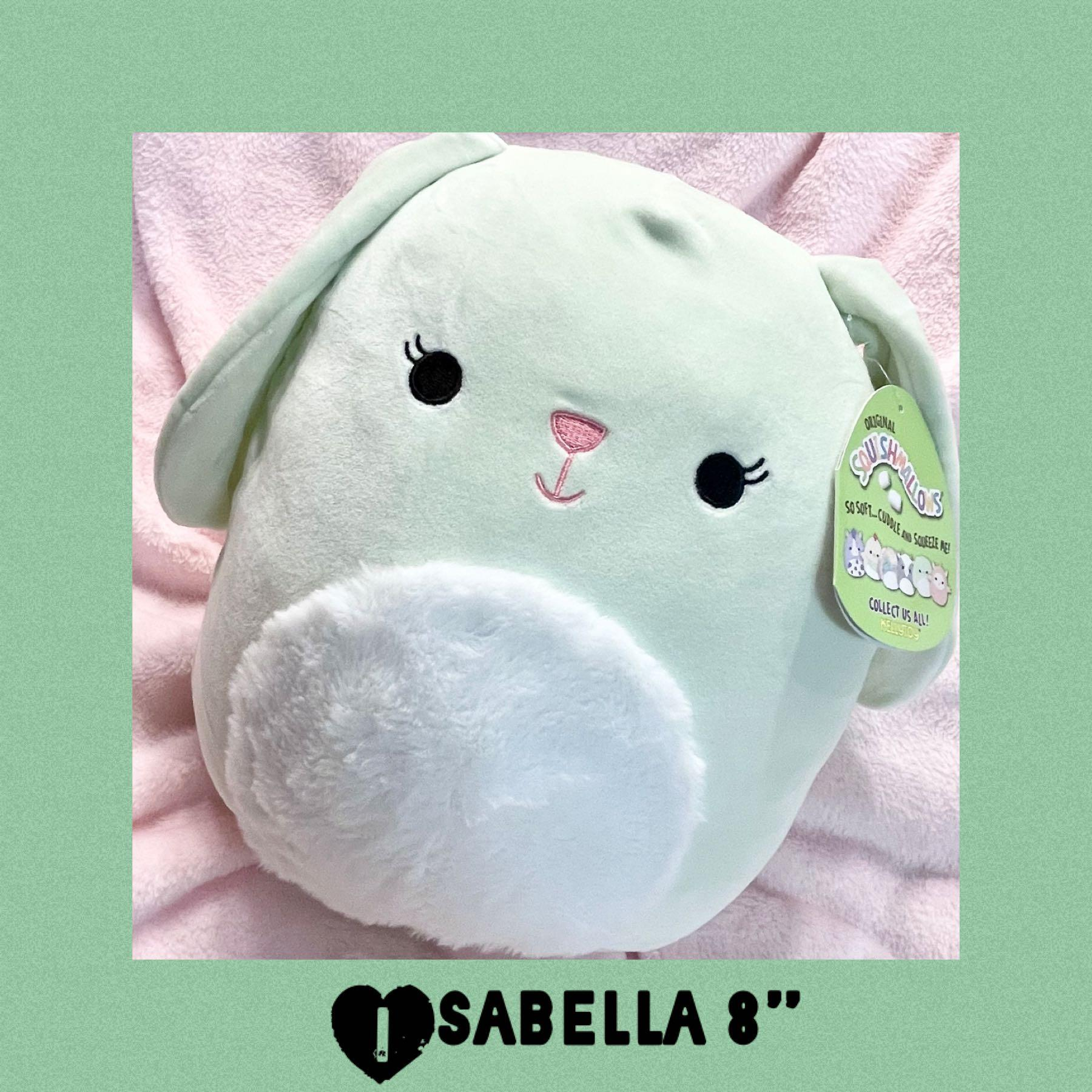 "Easter Isabella Squishmallows Bunny 8"" Plush"