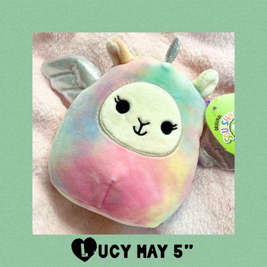 """Easter Lucy May Squishmallows Llamacorn 5"""" Plush Spring 2021"""