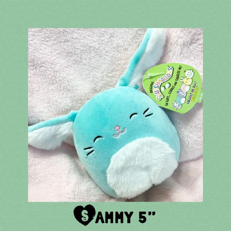 "Easter Sammy Squishmallows Bunny 5"" Plush Spring 2021"
