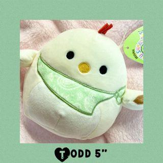 """Easter Todd Squishmallows Chick 5"""" Plush Spring 2021"""