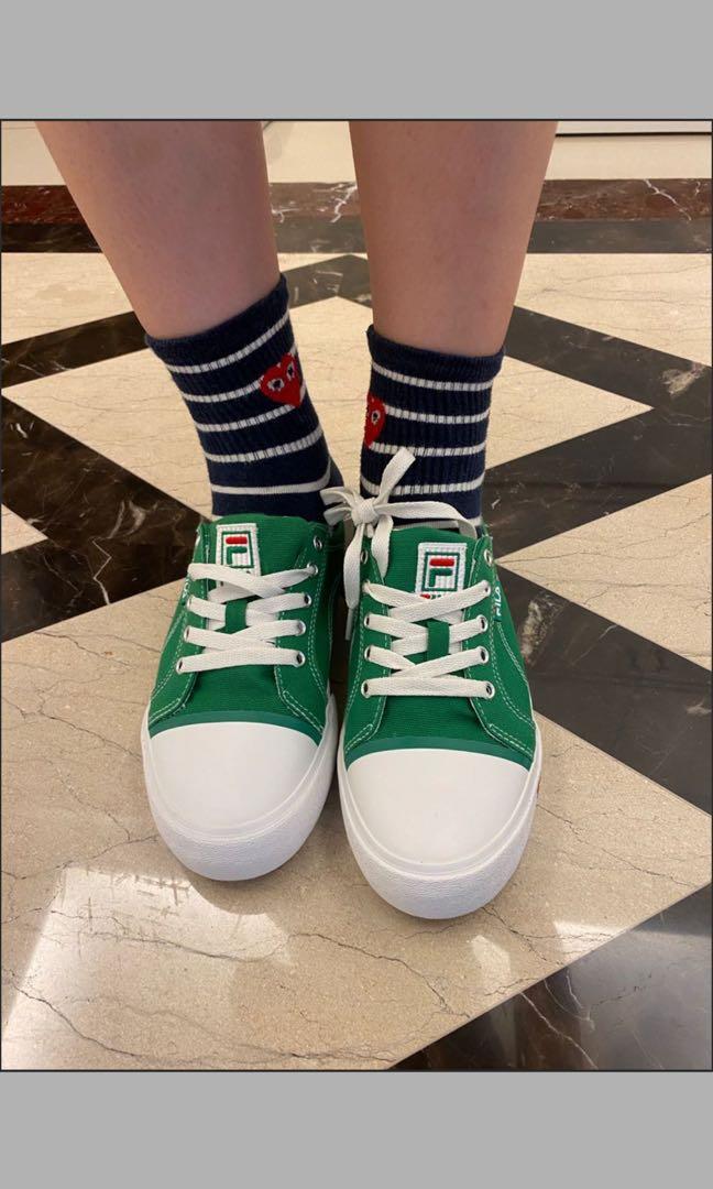 Fila全新青綠色穆勒鞋