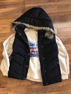 Goose down winter vest