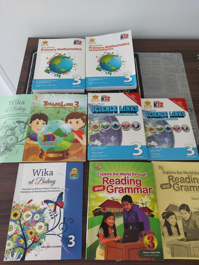 """🧸SETS""""GRADE 3 BOOKS 📚 WITH TEACHER'S MANUAL"""