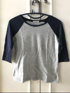grey navy top