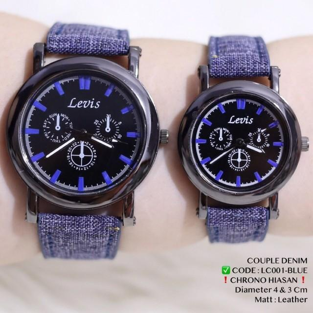 Jam tangan Couple Denim