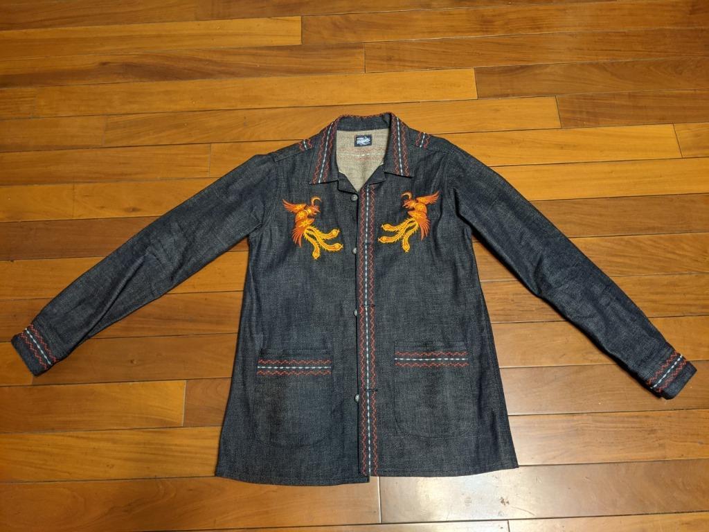 Jeansda Phoenix Denim Jacket 鳳凰刺繡牛仔外套 民族風 S 日本製 已絕版