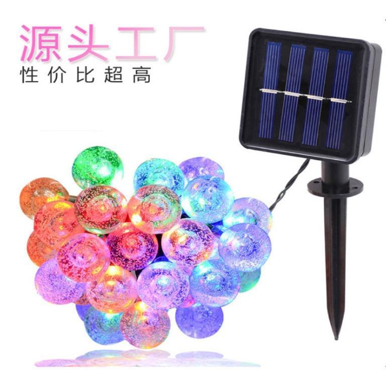Lampu Hias Dekorasi 100 LED 12 Meter with Solar Panel - MixColor