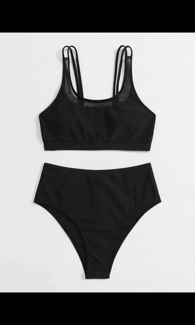 Mesh High Waisted Bikini