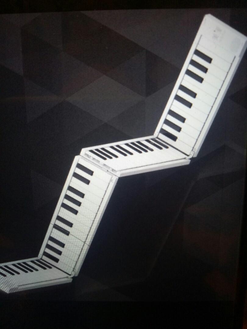 Midi 88 keys foldable piano