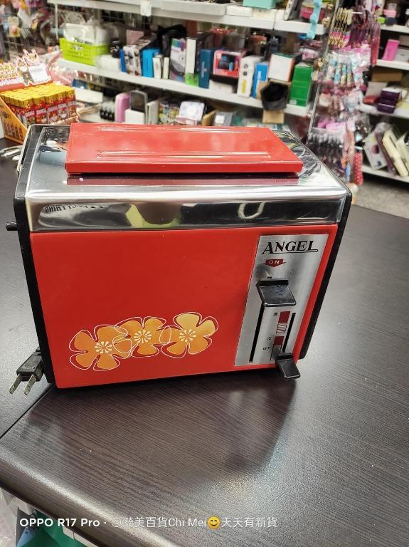 客訂杯子+測OK ANGEL烤麵包機 古董 早期 復古 紅色 花朵共250元
