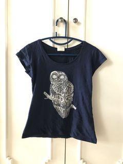 owl navy shirt