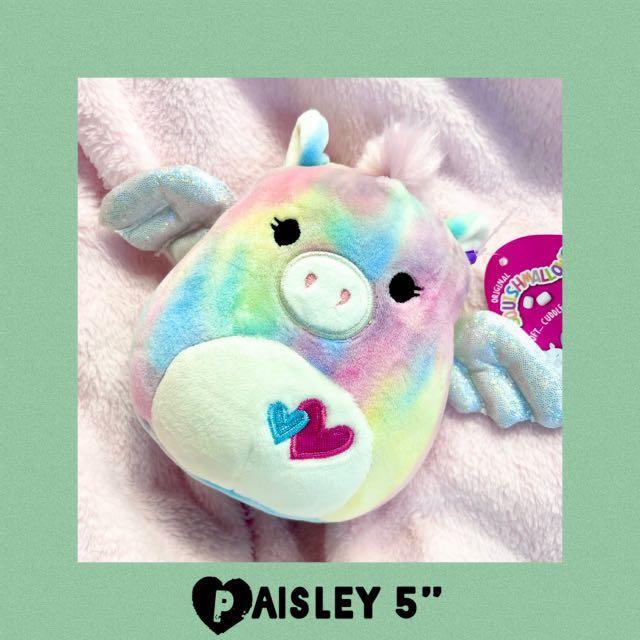"Paisley Squishmallows Pegasus 5"" Plush 2021 Valentine's Day"