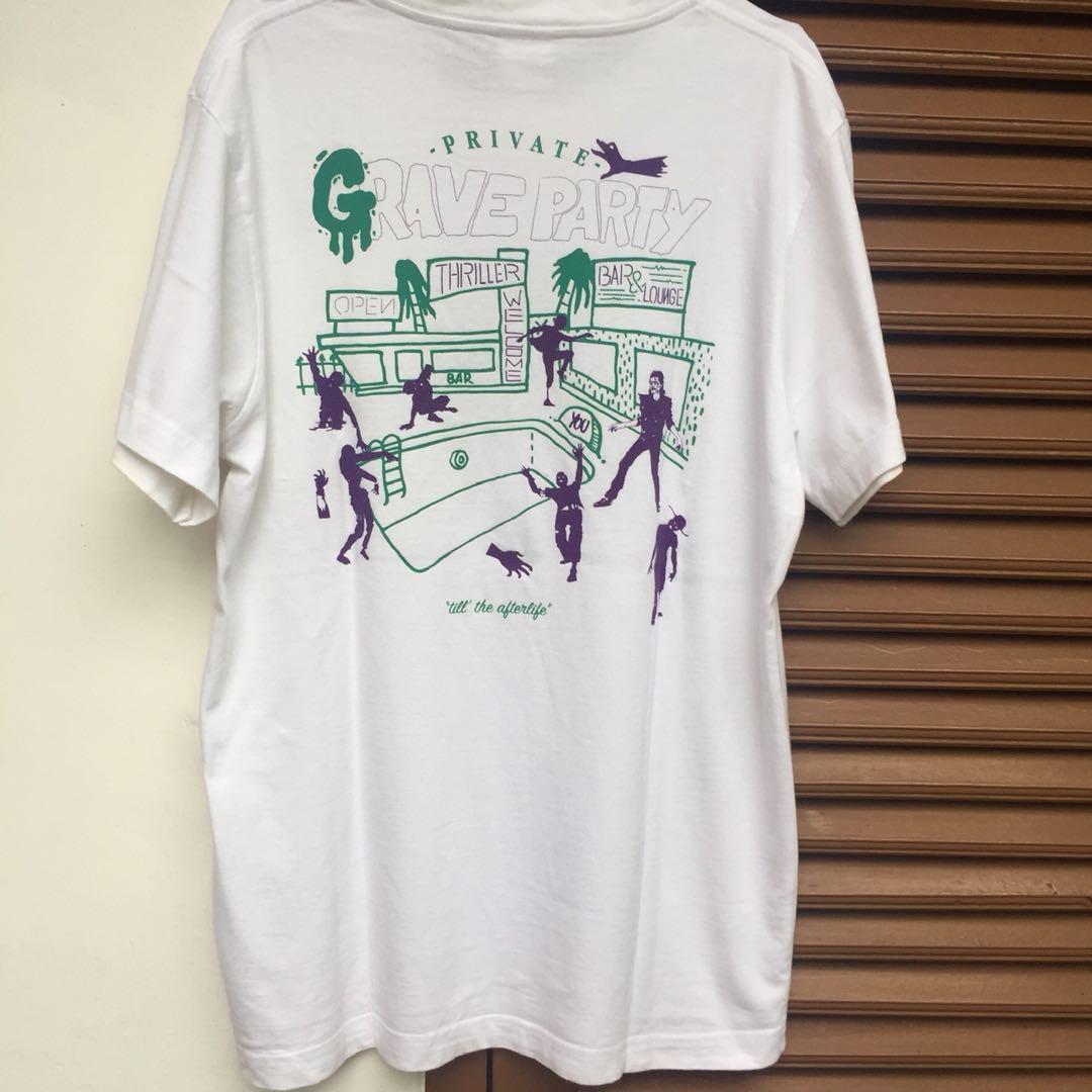 PUBLIC CULTURE White Printed T-shirt / Kaos Distro Putih