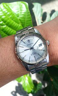 Sandoz Day Date President Homage Automatic Vintage Swiss Watch Not Rolex, Bulova, Rado, Tissot, Seiko, Casio, Orient, Omega, Tag Heuer, Ricoh