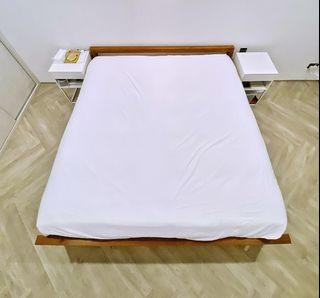 Scanteak Vinkel Bed Frame (SG King) Solid Teak Wood