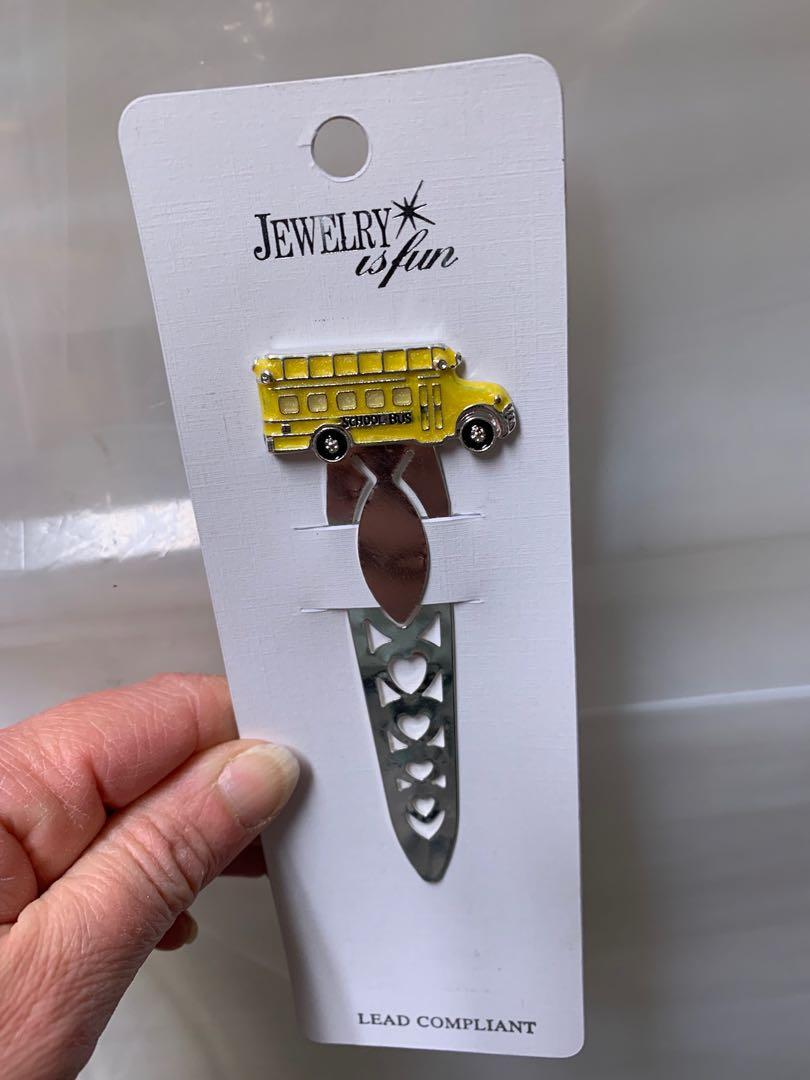 School bus letter opener/book mark