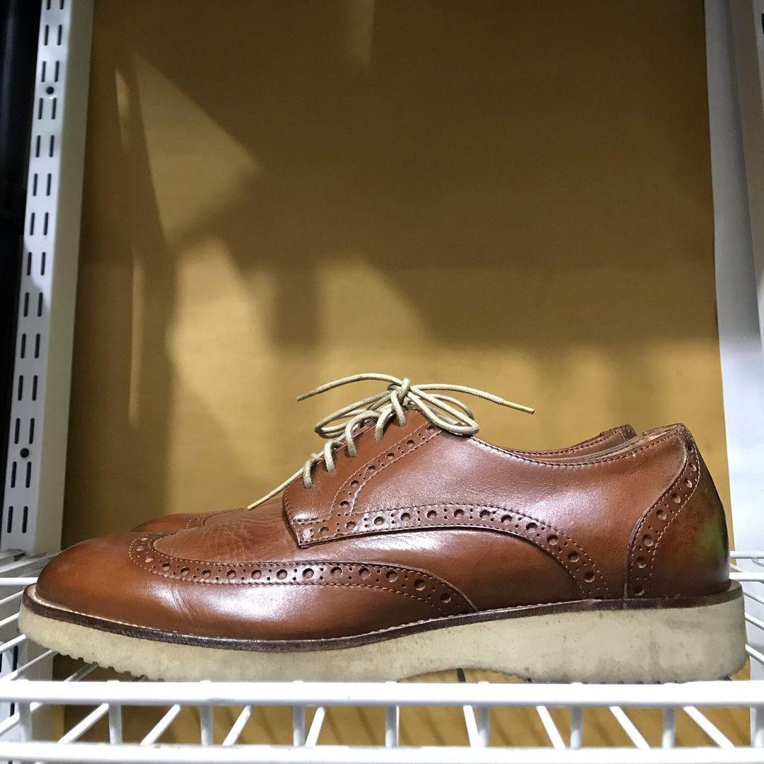 (size 39) Adolfo Carli wingtips shoes Leather Made In italy