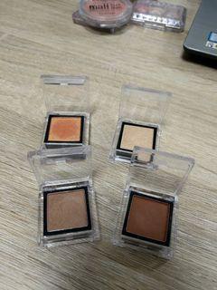 附收納袋4個一起賣Solone單色眼影(橘/咖啡/米/香檳色)
