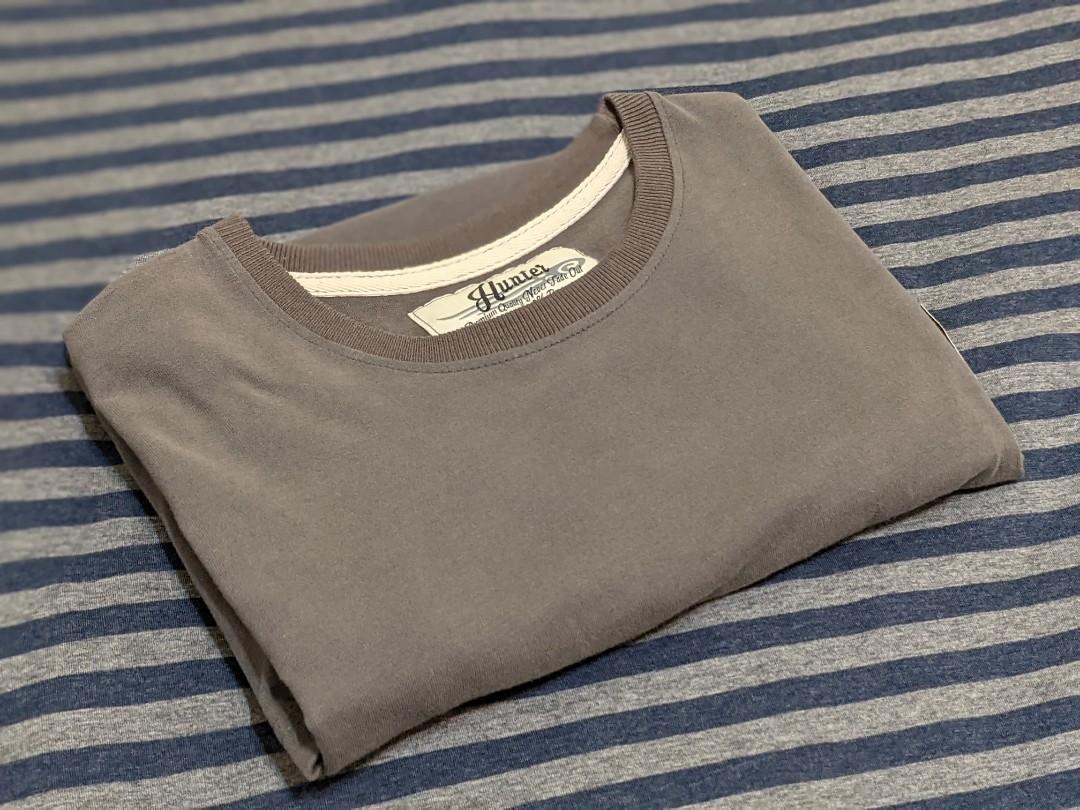 高品質純棉黑灰色T shirt M號