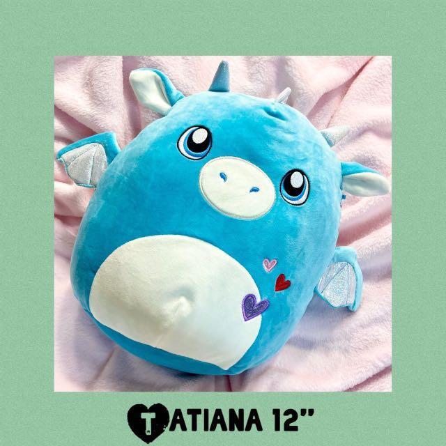 "Tatiana Squishmallows Dragon 12"" Plush 2021 Valentine's Day"