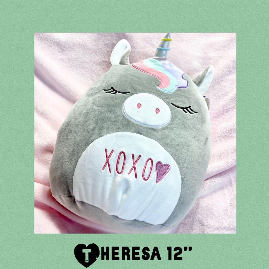 "Theresa Squishmallows Unicorn 12"" Plush 2021 Valentine's Day"