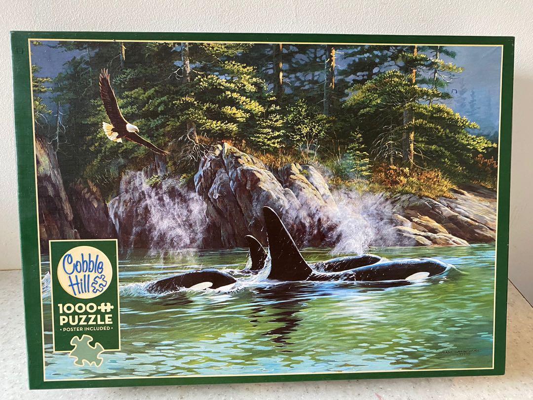 Whale scene puzzle. 1000 pieces.