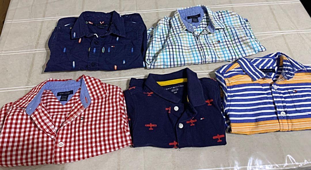 5 GUC Tommy Hilfiger infant boys dress tops sz 18m