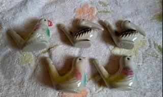 彩色陶笛小鳥