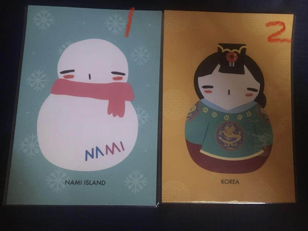 韓國南怡島明信片
