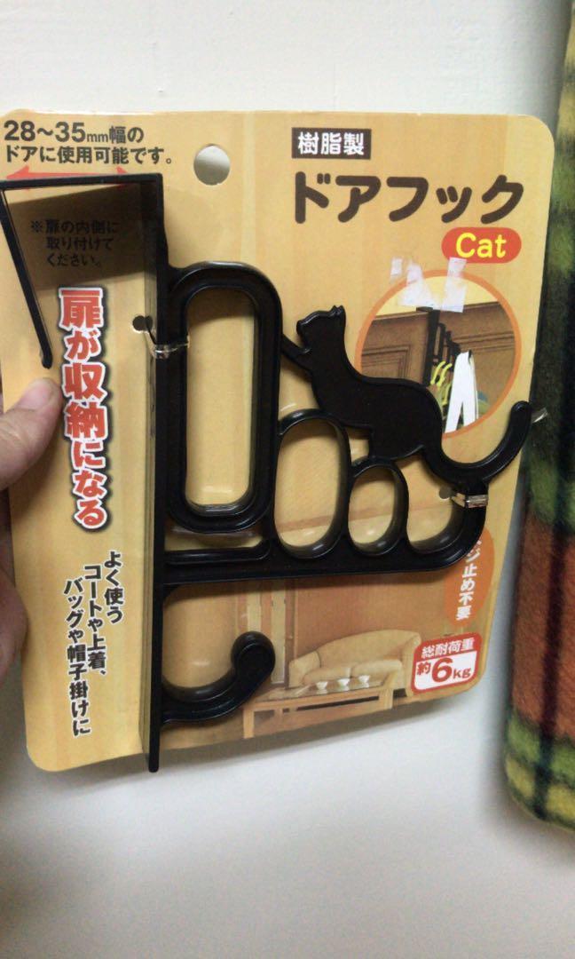 全新貓咪造型門掛勾
