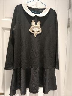 大尺碼優雅狐狸魚尾洋裝