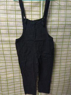 棉麻 吊帶褲