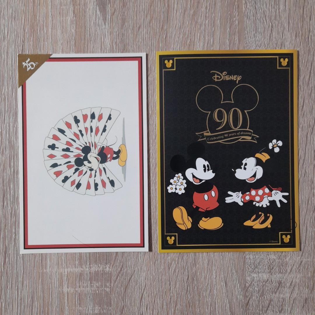 迪士尼 明信片 (2張合售)
