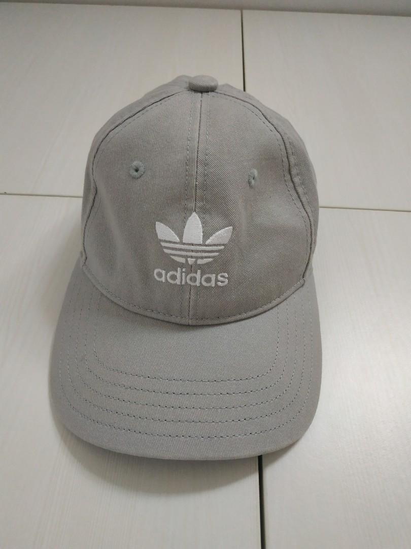 adidas灰色老帽