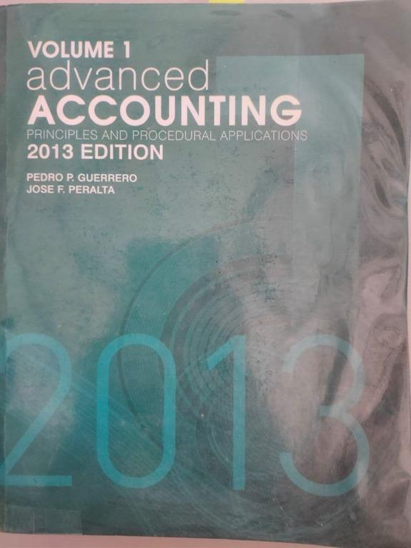 Advanced Accounting Volume 1 by Guerrero and Peralta l 2013 edition