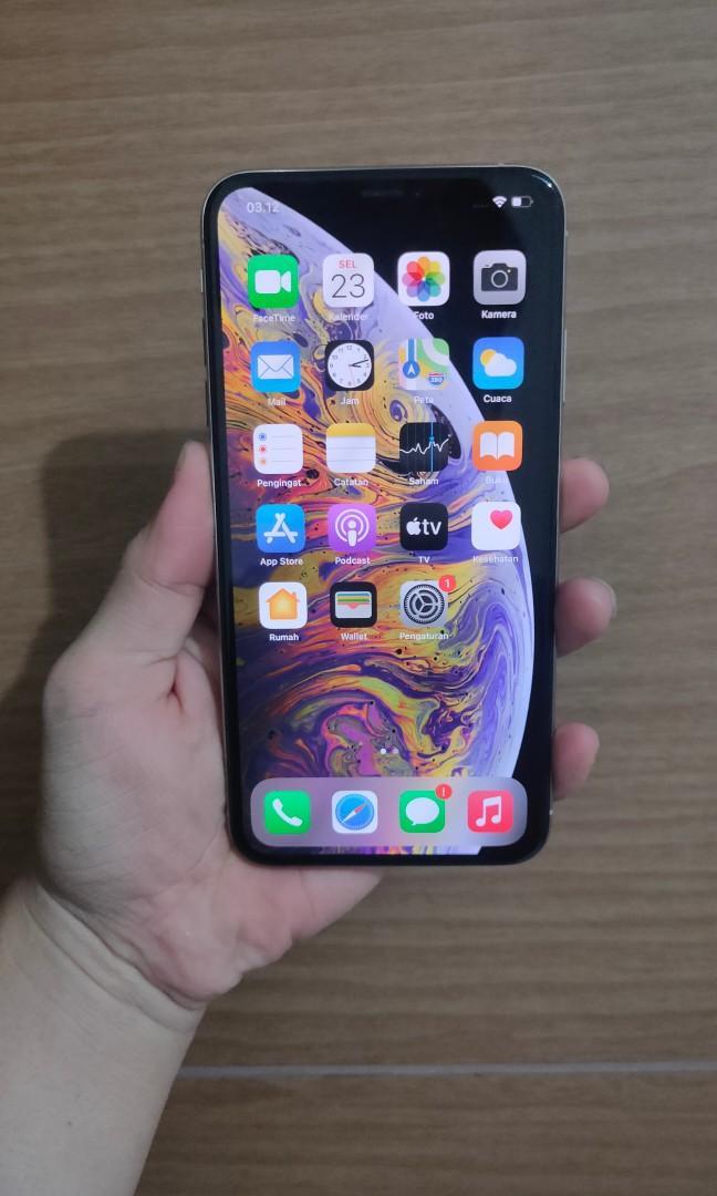 Bisa TT iPhone Xs Max 64Gb Silver mulus