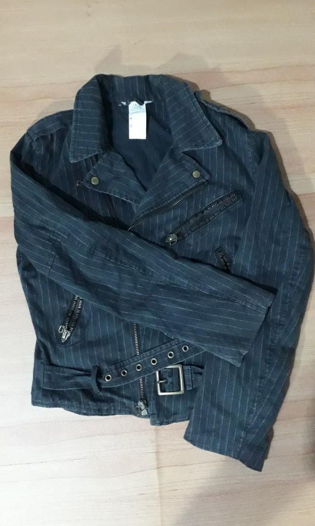 Black Jeans Biker Jacket