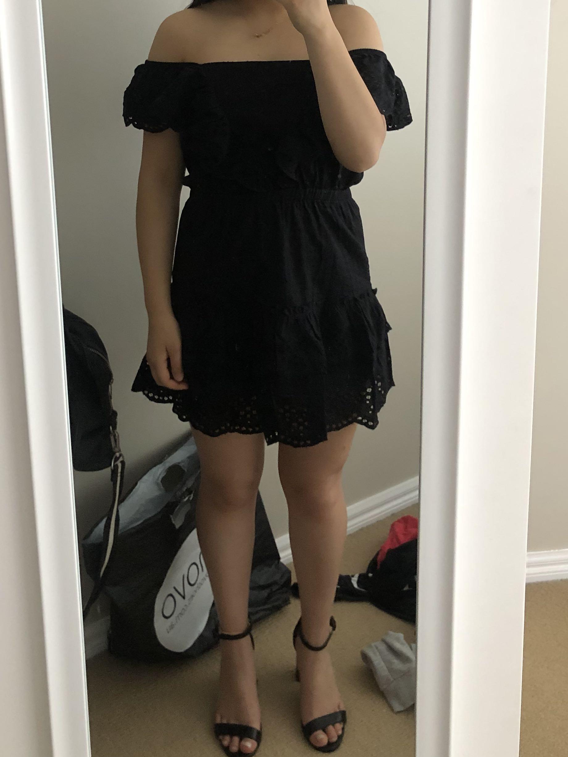 Brand new Black cotton on high tea dress