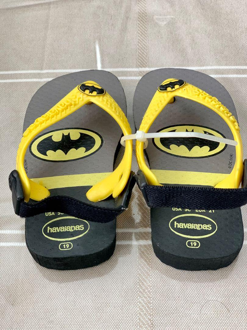 Brand new havaianas infant boys BatMan sandals sz 5c