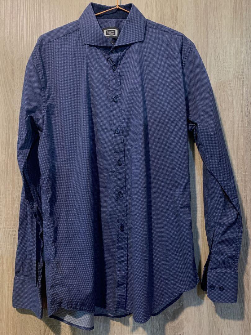 Bugatti藍細點襯衫